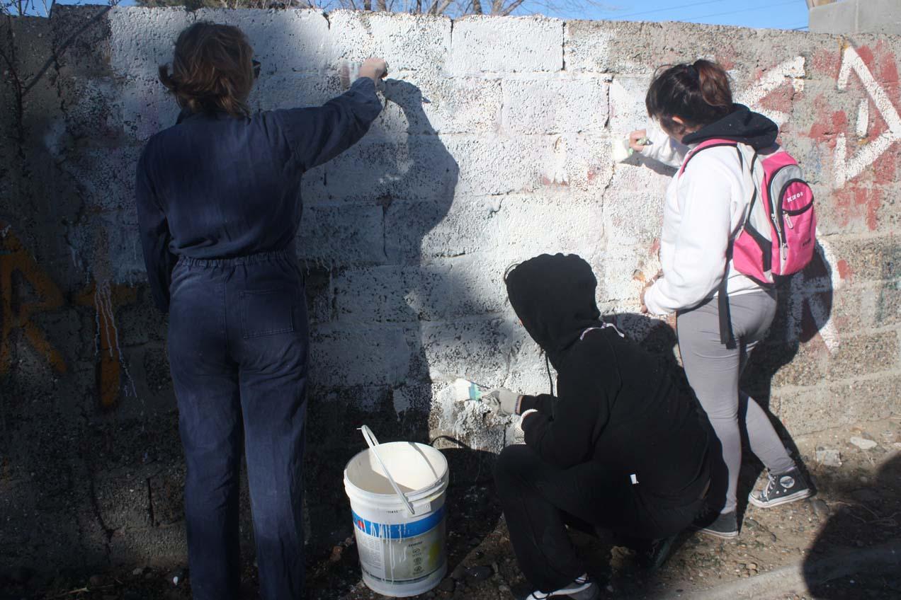 Mural por el Voto Joven en Comodoro Rivadavia