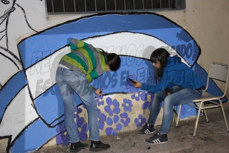 Mural por la Noche de los lápices