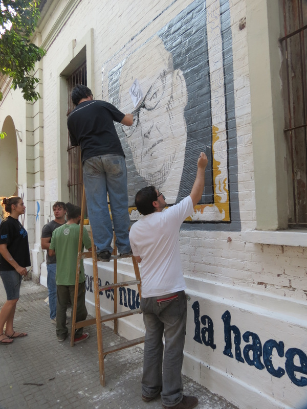 Mural homenaje a Salvador Allende