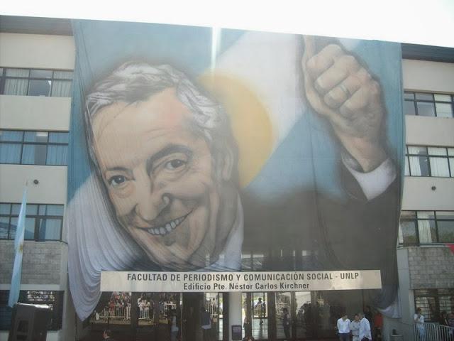 Evo en la Facultad de Periodismo de La Plata