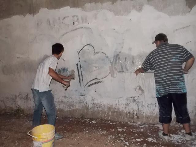 Pintadas del dia del militante