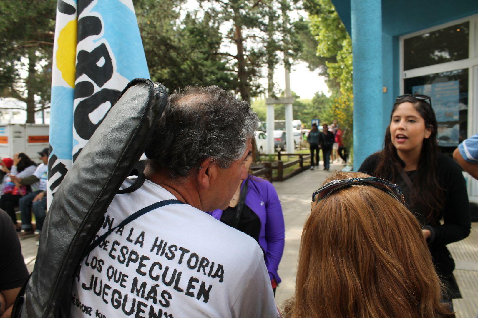 Cristina en Calafate. Santa Cruz