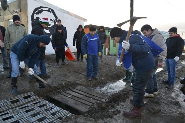 Jornada solidaria en Tierra del Fuego