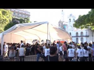 Acampe en Plaza de Mayo por Milagro Sala