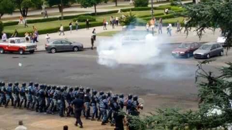 Represión en La Plata
