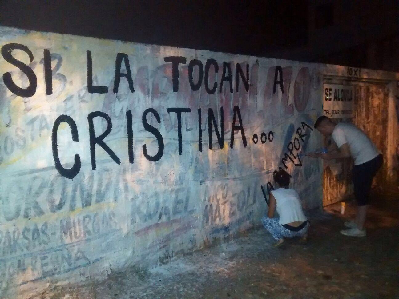 """Santa Fé, PIntadas """"Si la tocan a Cristina..."""""""