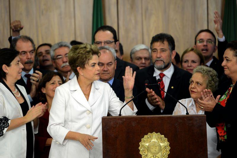Brasília - Presidenta Dilma Rousseff durante declaração à imprensa no Palácio do Planalto. (Elza Fiúza/Agência Brasil)