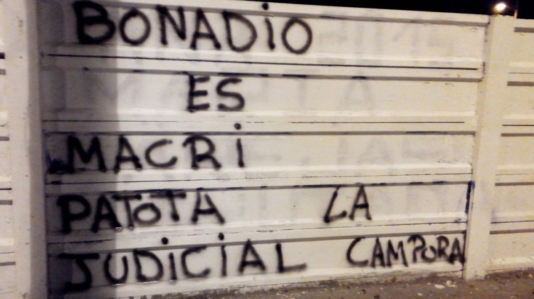 "Santa Cruz, Puerto Deseado, Pintadas ""Patota Judicial"""