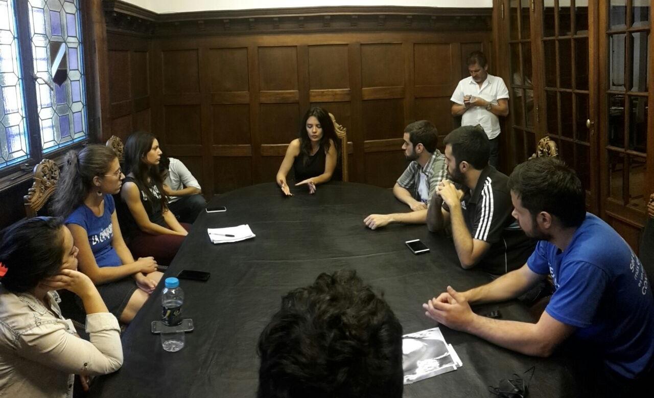 La Cámpora Universidad se reunió con Camila Vallejos